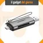 Da Ugreen il lettore di schede SD/microSD con doppia spina USB-A/USB-C - Macity