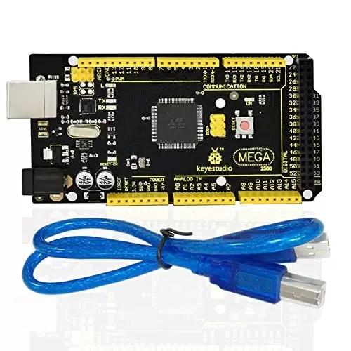 raspberryitalia keyestudio mega 2560 r3 controller board cavo usb compatibile per arduino