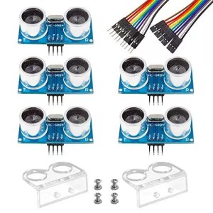 raspberryitalia smraza 5pcs ultrasonic module hc sr04 distance sensor with 2pcs cartoon 1