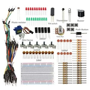 raspberryitalia sunfounder sidekick basic starter kit w breadboard jumper wires color led 1