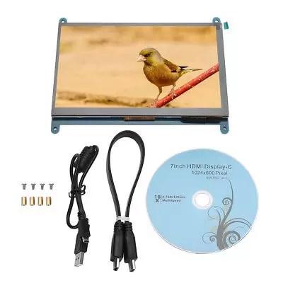 "7"" LCD HDMI Computer Monitor Touch Screen 1024 * 600 Kit Per Raspberry Pi 3 2 1"