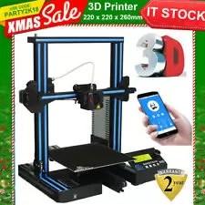 Stampante 3D Alluminio DIY ABS,PLA HIPS,PETG,PVA APP Telecomando 220x220x260mm