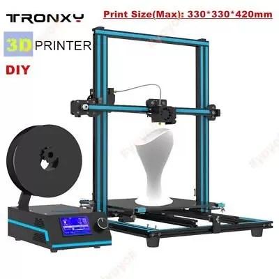 Stampante 3D Tronxy X3S CR-10 Prusa I3 Grande formato di stampa 330x330x420mm *
