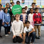 Happy computing enthusiasts at a Code Club