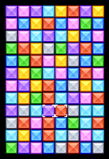 make a columns style tile matching game