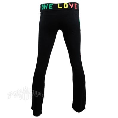 Bob Marley One Love Black Yoga Pants - Women's