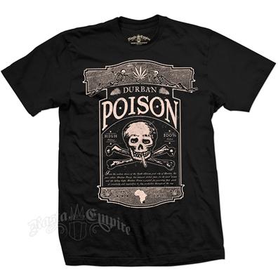 Seven Leaf Durban Poison Strain Black T-Shirt - Men's