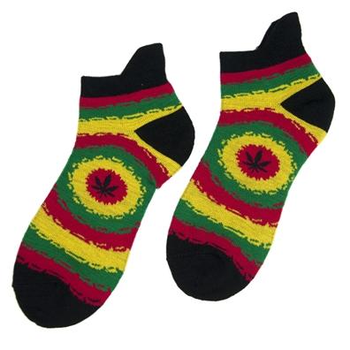 Panama Red Rasta Ankle Socks