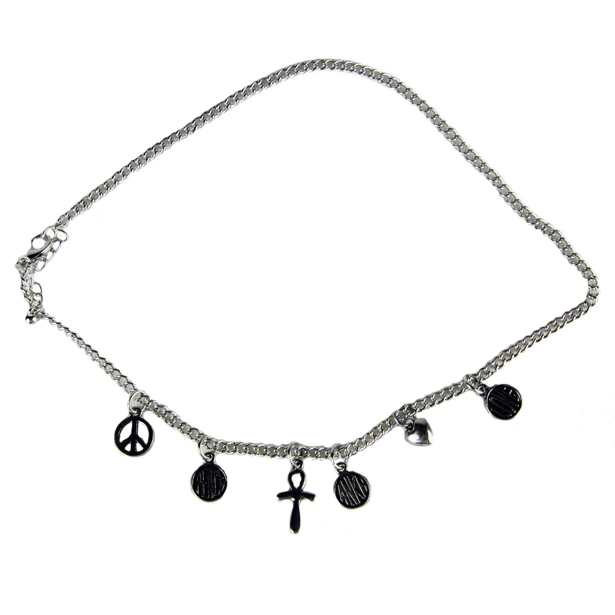 Peace Ankh Amp Heart Chain Necklace Rastaempire