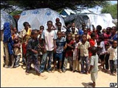 Group of Internally Displaced Somali Children