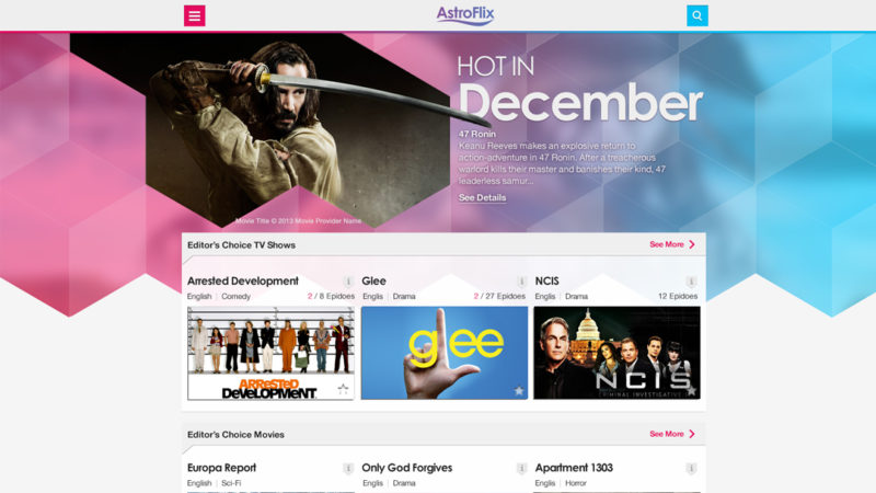 Entertainment app - web