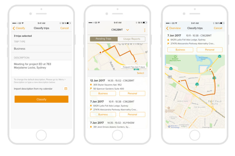 Motor vehicles Tracking app