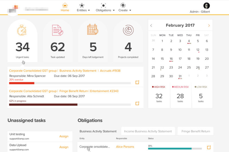 Project Management app for accountants