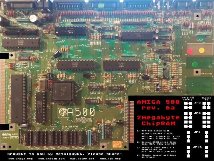 Amiga 500 Rev 6A - 2Emag Chip