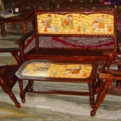 Foldable Wooden Sofa Set Ashley Leather Rastogi Handicrafts Exclusive Range Of From Jaipur India 120316 Folding Hand Painted With Table