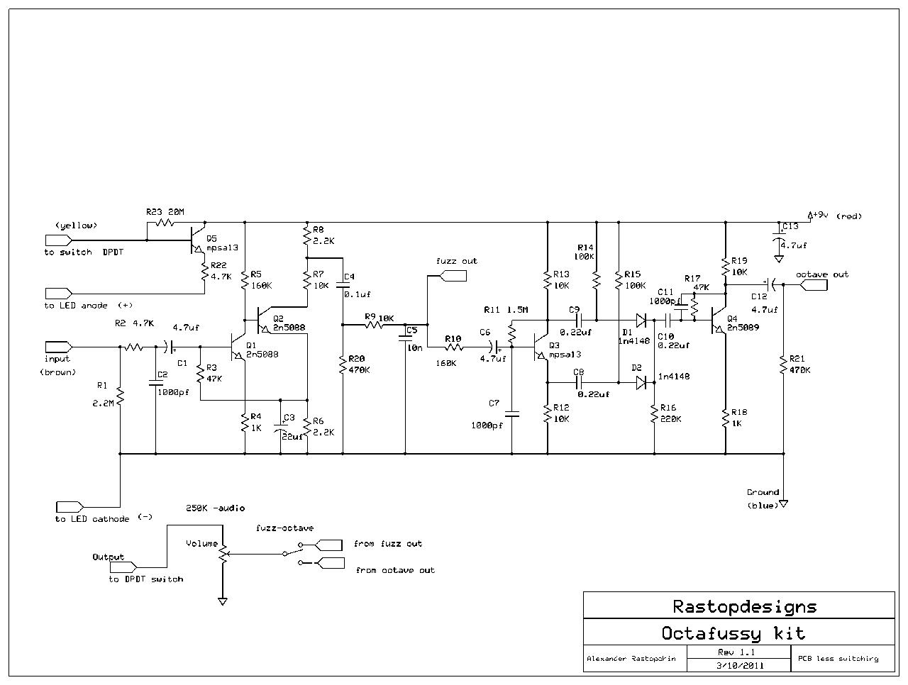 fuzz face wiring diagram kazuma 50 atv germanium schematic free engine image for
