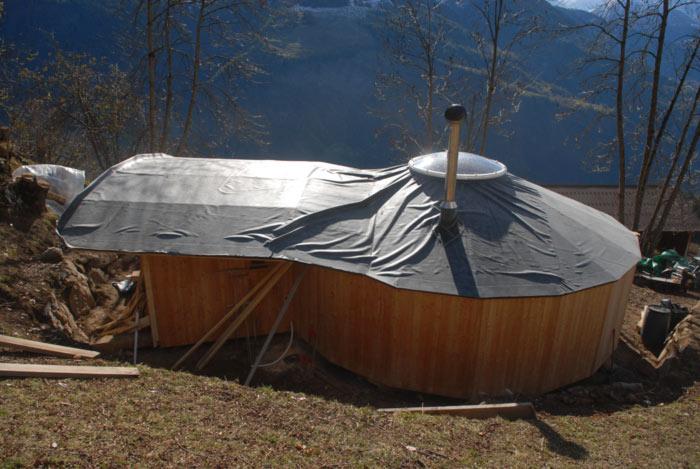 Zirben  JURTE gebraucht kompletter Bausatz gnstig abzugeben   VERKAUFT   Holzbau  Rast