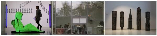 """Vilniaus dailės akademijos Nidos meno kolonijoje vasaros akademininkai apžiūrėjo šiuolaikinio meno parodą """"Lipti nematomomis struktūromis. Apie ritualines disciplinuojančias praktikas"""""""