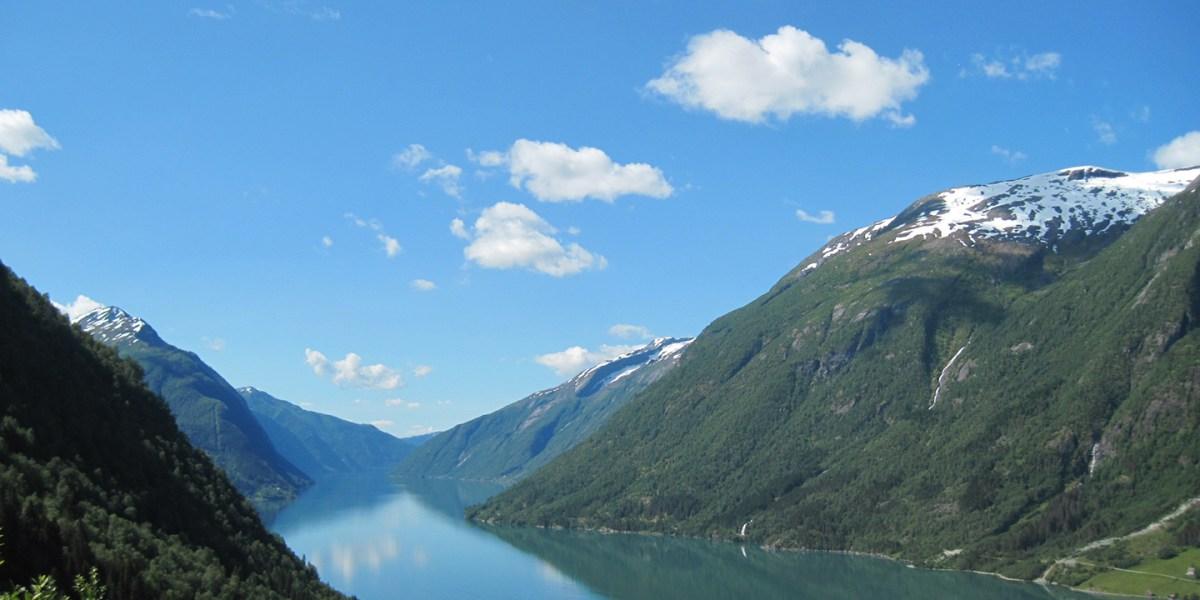 Norvegijos kalnai, Sognės fiordas Norvegijoje. Autorės nuotrauka