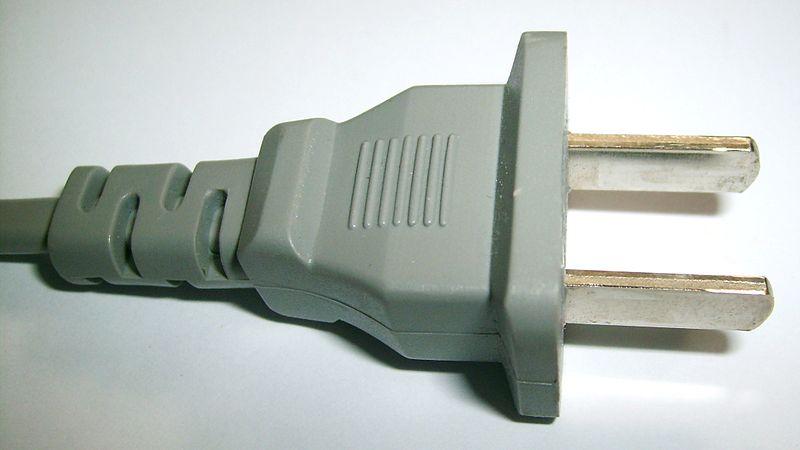 A (NEMA 1–15 USA 2 pin)