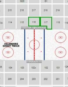 What section is directly behind the islanders bench at nassau coliseum also hockey seating chart  interactive map rh rateyourseats