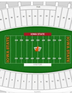 Where is hill row  seat at also iowa state football jack trice stadium seating chart rateyourseats rh