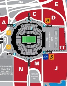 Where should we park for section at everbank field also jacksonville jaguars tiaa bank seating chart rateyourseats rh