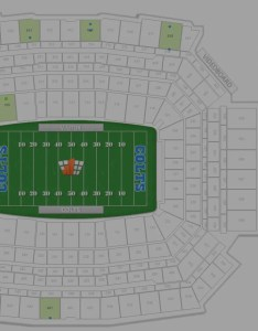 Aisle seat ticket filter at lucas oil stadium also how many seats are in each row rateyourseats rh