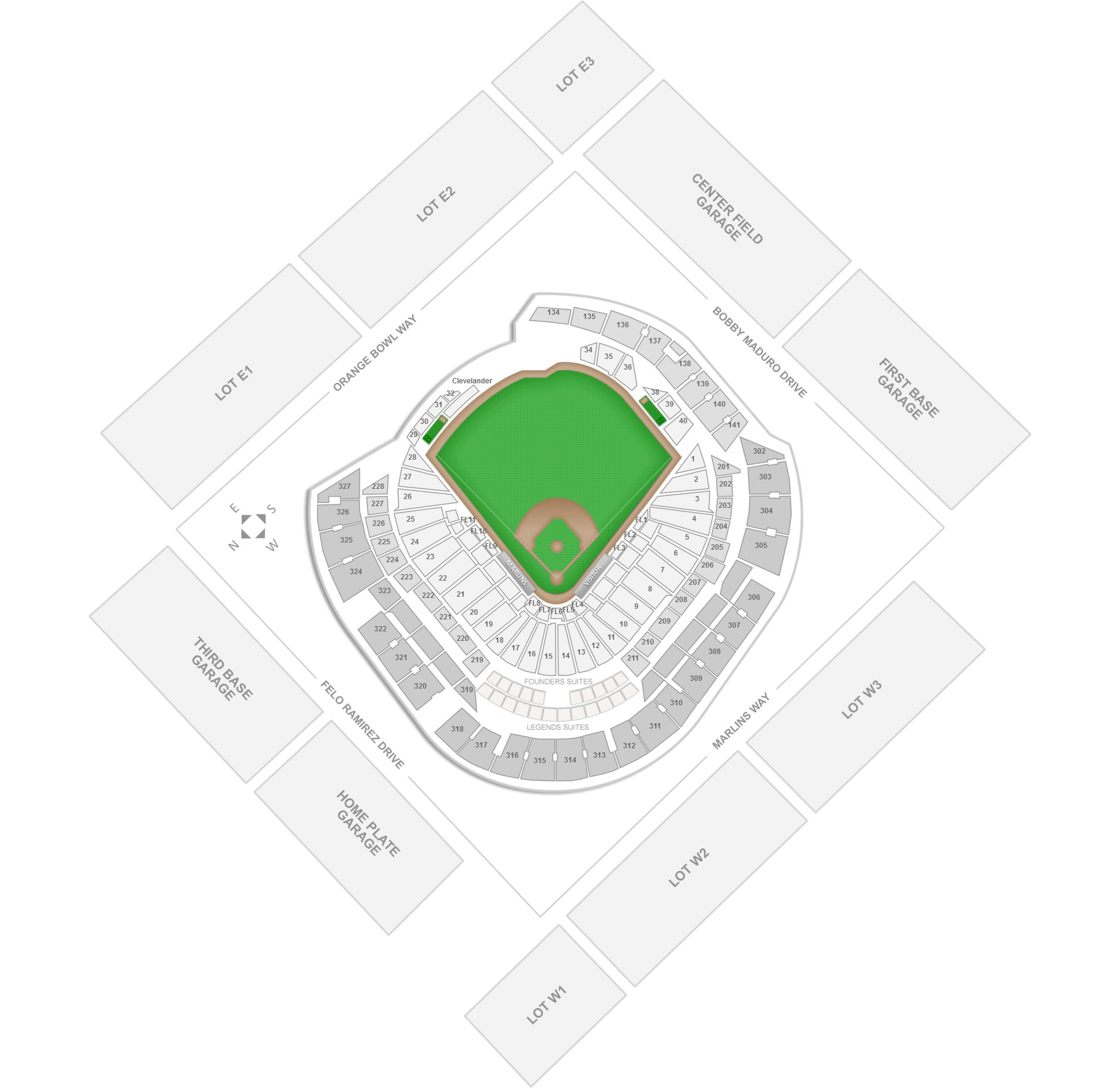 Miami Marlins Marlins Park Seating Chart & Interactive Map