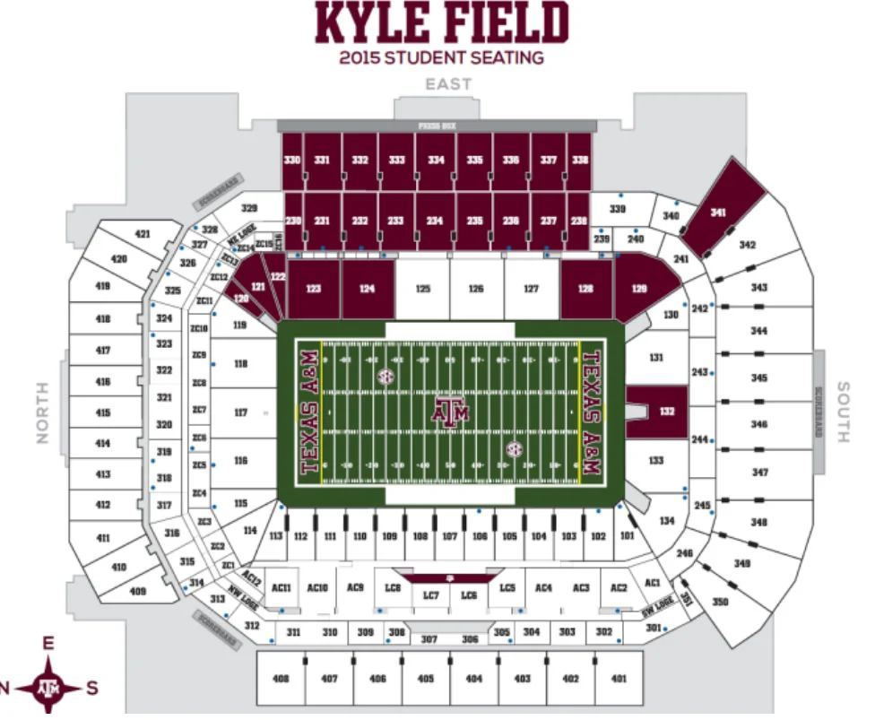 kyle field map