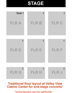 How are seats numbered on the floor at valley view casino center also rh rateyourseats