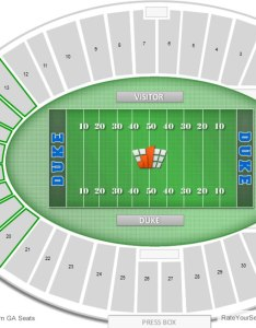 Where are general admission seats at duke football games also wallace wade stadium seating chart rateyourseats rh