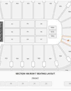 Seating layout in section row at wells fargo center also how many seats rh rateyourseats