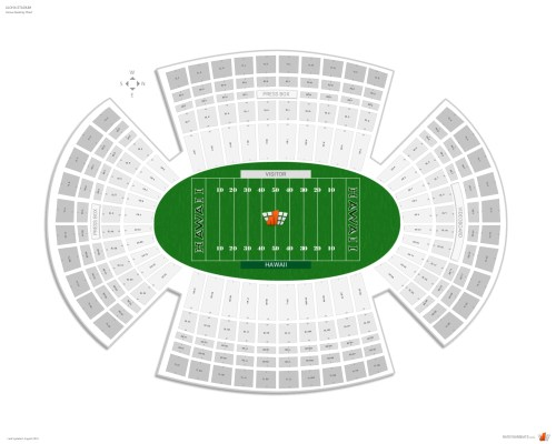 small resolution of aloha stadium seating chart with row numbers