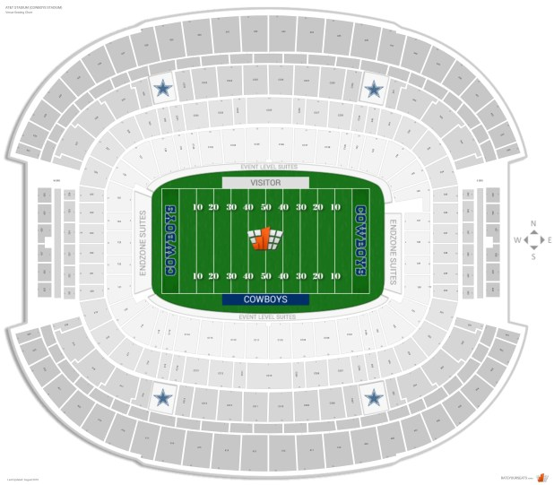 Supercross Ford Field: Ford Field Seating Chart With Seat Numbers