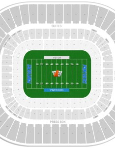 Bank of america stadium seating chart with row numbers also carolina panthers guide rh rateyourseats