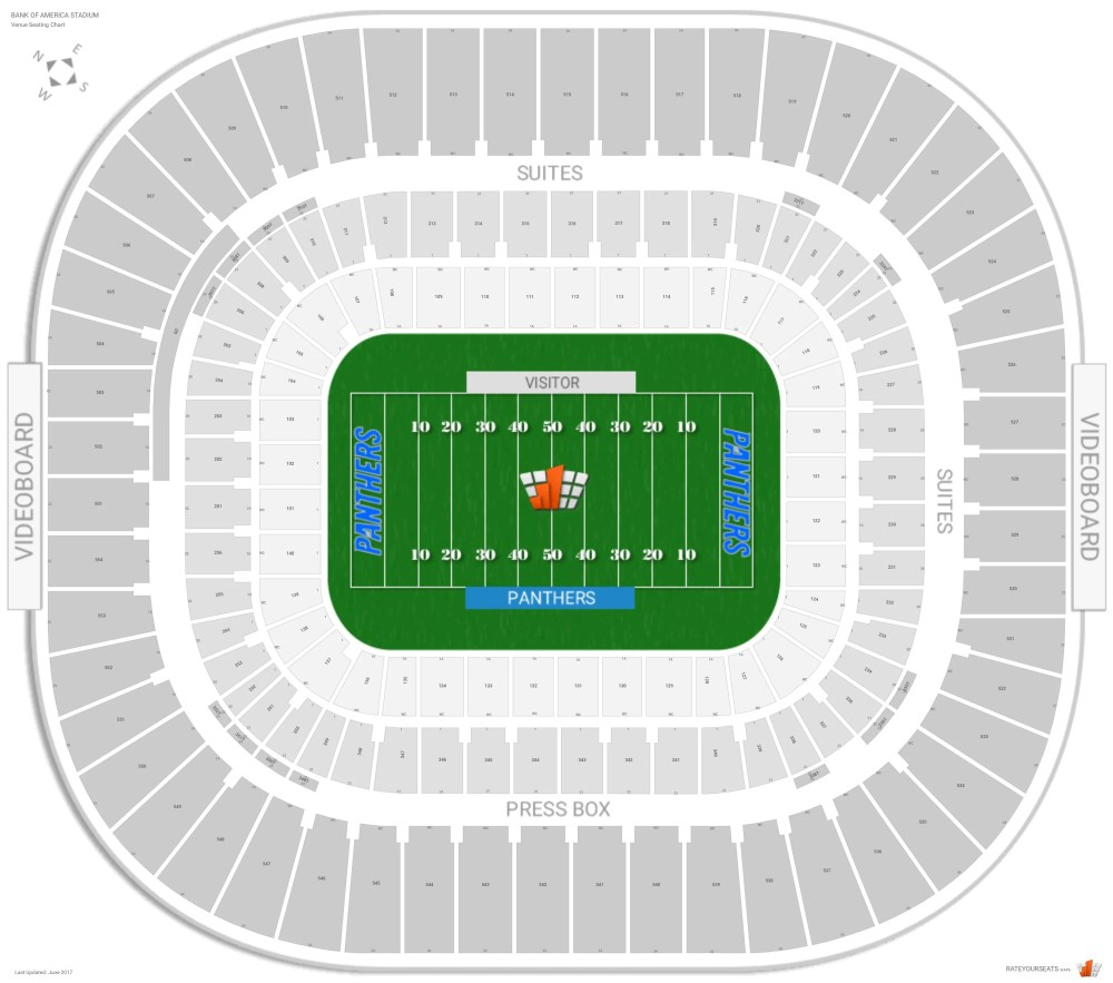 medium resolution of bank of america stadium seating chart with row numbers