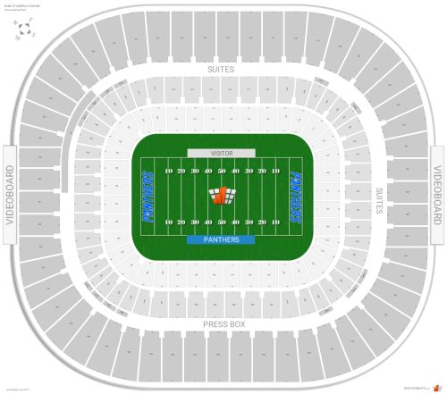 small resolution of bank of america stadium seating chart with row numbers