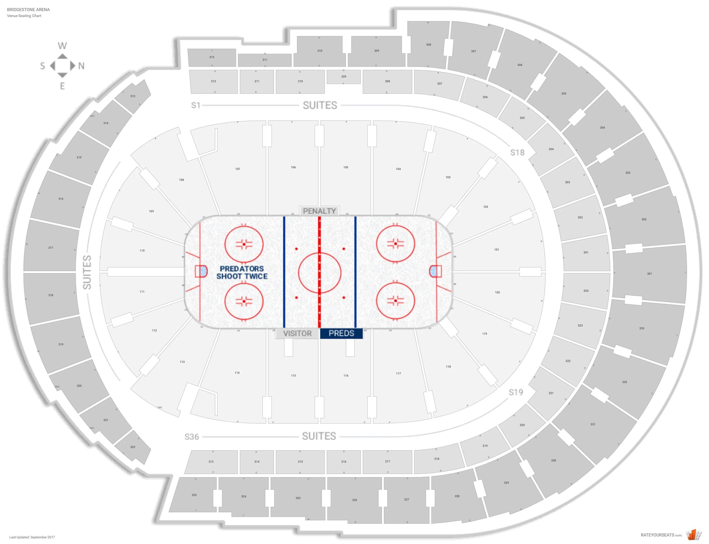 Chart Seating Numbers Bridgestone Arena Seat