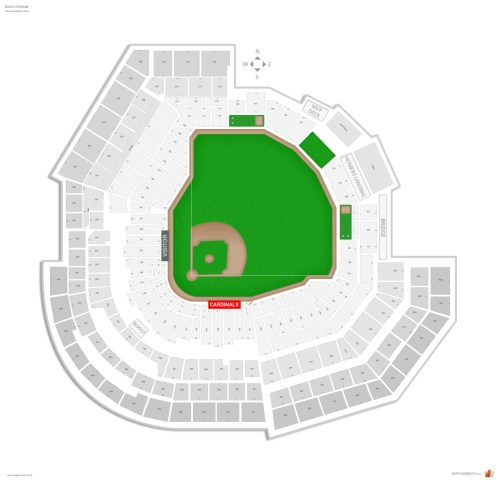 small resolution of busch stadium seating chart with row numbers