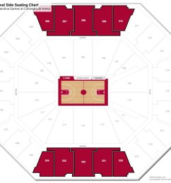 colonial life arena upper level side seating chart [ 1600 x 1403 Pixel ]