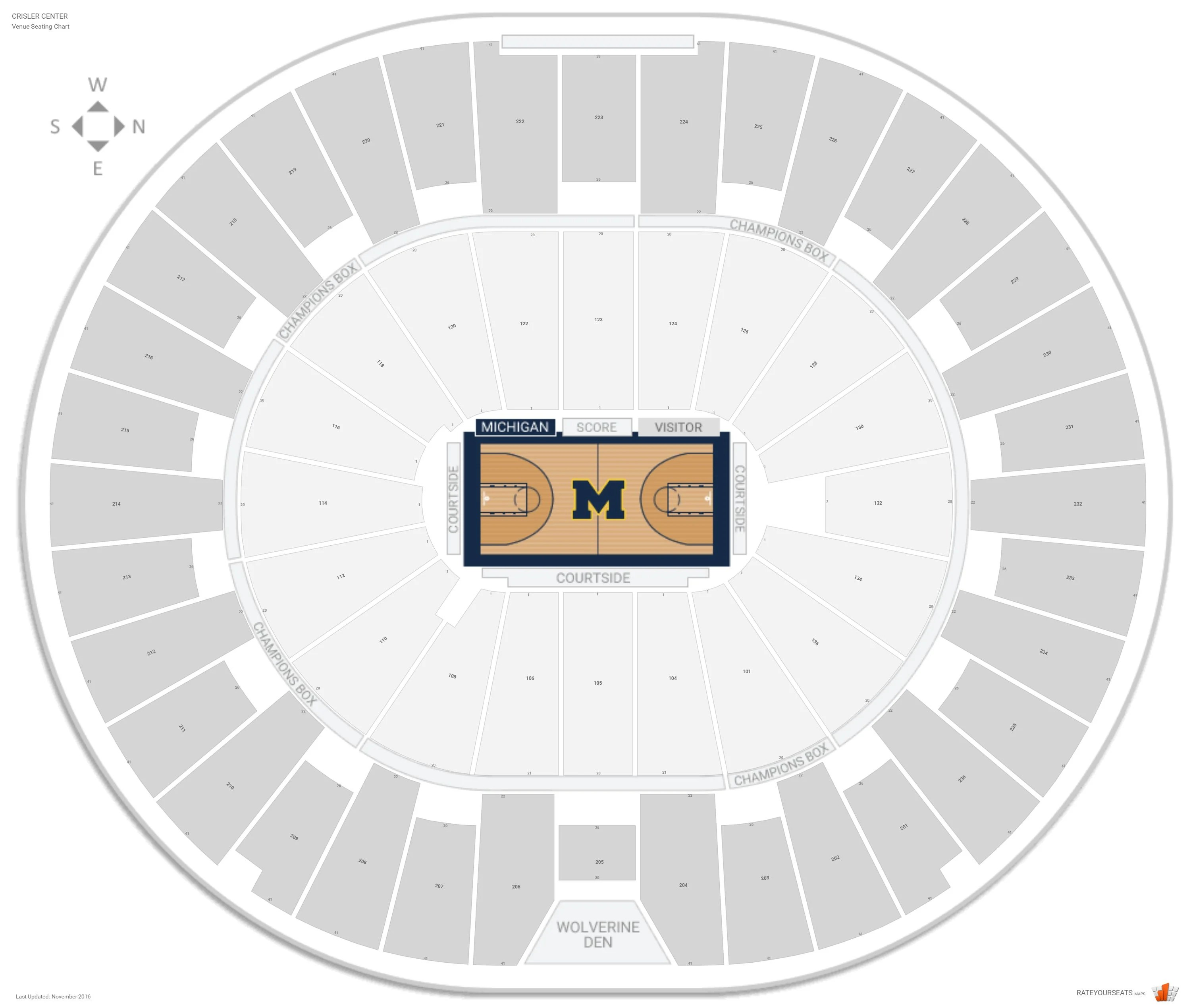 Crisler Center Michigan Seating Guide Rateyourseats Com