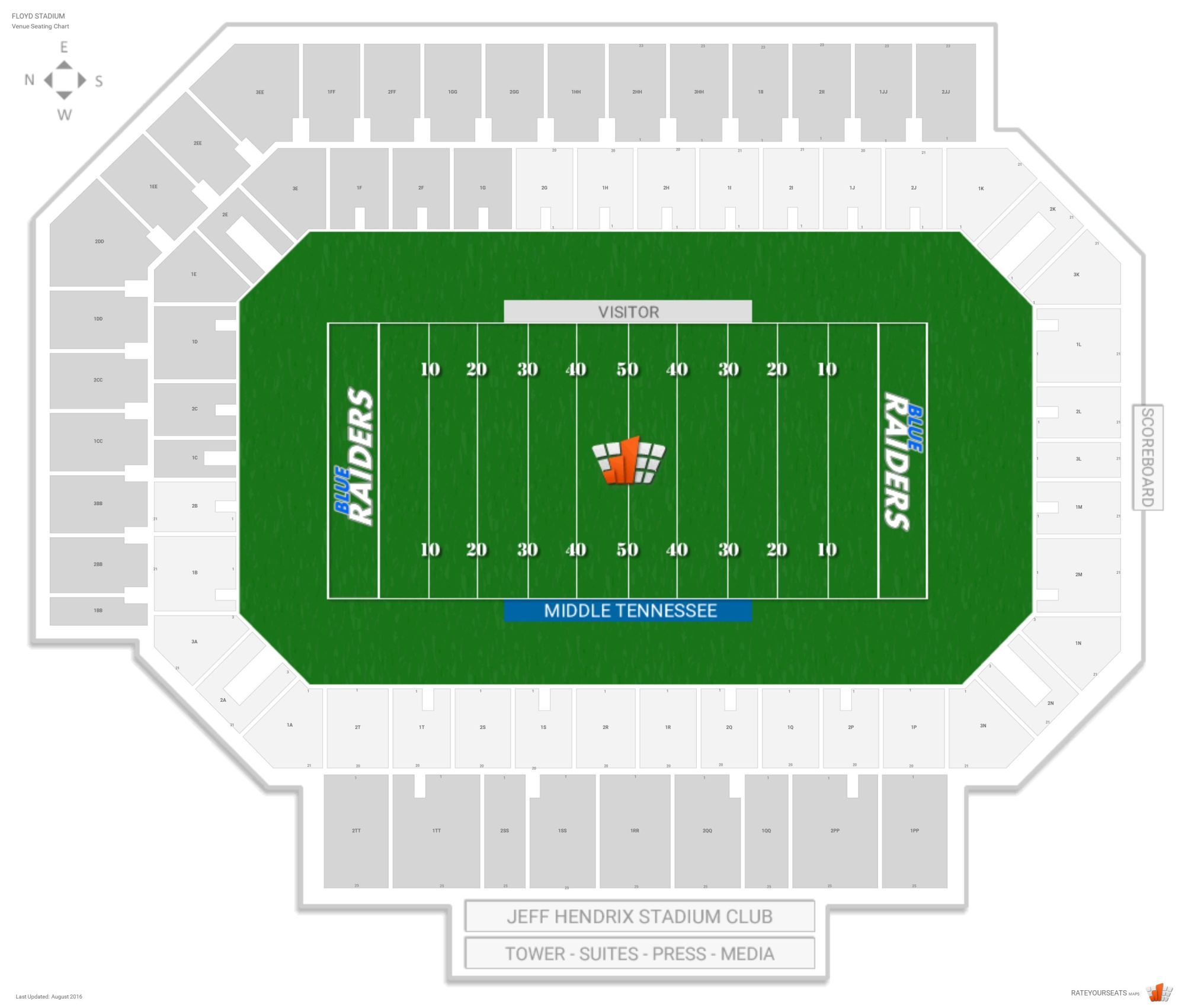 hight resolution of floyd stadium seating chart with row numbers