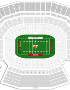 Seating chart with rows levi also san francisco ers guide   stadium rateyourseats rh