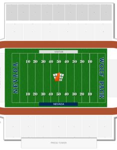 Mackay stadium seating chart with row numbers also nevada guide rateyourseats rh