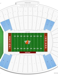 Memorial stadium in lower corner seating chart also indiana guide rateyourseats rh