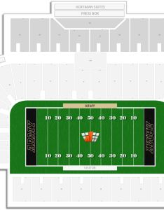 Michie stadium seating chart with row numbers also army guide rateyourseats rh