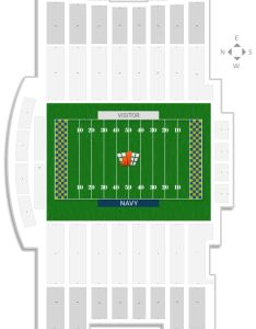 Navy marine corps stadium seating chart with row numbers also guide rateyourseats rh