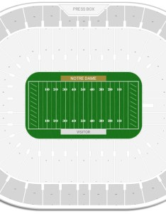 Notre dame stadium seating chart with row numbers also guide rateyourseats rh