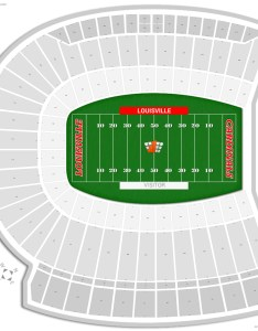 Cardinal stadium seating chart with row numbers also louisville guide rateyourseats rh